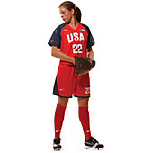 Nike Women's Custom US Game Uniform Softball Short