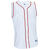 Russell Athletic Men's Faux Placket Sleeveless Baseball Jers