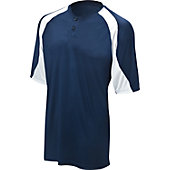 Mizuno Youth 2-Button Color Block Baseball Jersey G3