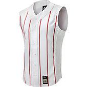 Mizuno Adult Pro Pinstripe Sleeveless Baseball Jersey