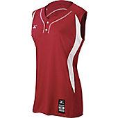 Mizuno Women's Elite 2-Button Sleeveless Softball Jersey