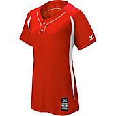 Mizuno Girls' Elite 2-Button Softball Game Jersey