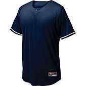 Nike Men's Ace Mesh Navy Henley Baseball Jersey