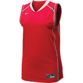Nike Women's Red/Wht Sleeveless Prospect Jersey