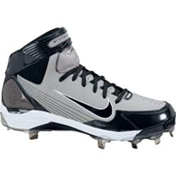 Nike Air Huarache Mid Metal Grey Baseball Cleats