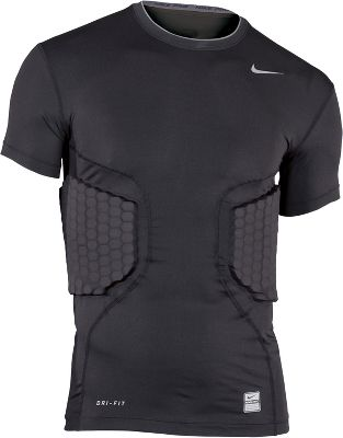 Nike Mens Pro Combat Attack Black Short Sleeve Shirt