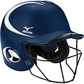 Mizuno MBH250 MVP G2 Two-Tone Batting Helmet with FP Mask (S/M)