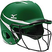 Mizuno Adult MBH252 MVP 2-Tone Batting Helmet with Facemask