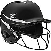 Mizuno MBH601 Prospect 2-Tone Batting Helmet with Facemask