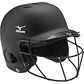 Mizuno Adult MBH252 MVP Solid Batting Helmet with Facemask