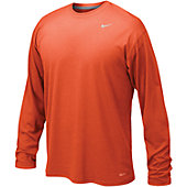 Nike White Legend Long Sleeve Performance Shirt