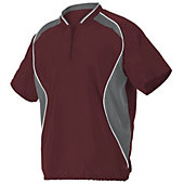 Alleson Men's Short Sleeve Baseball Batter's Jacket