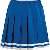 Teamwork Youth Pleated Cheer Skirt with Trim