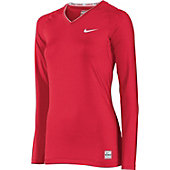 Nike Women's Long Sleeve V-Neck Compression Shirt