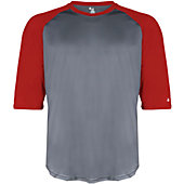 Badger Men's B-Baseball 3/4 Sleeve Shirt