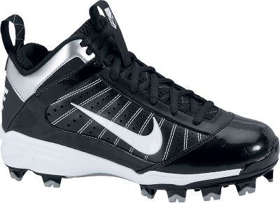 Nike Youth Diamond Elite BlackWhite Mid Molded Cleats