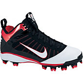 Nike Youth Diamond Elite Black/Red Mid Molded Cleats