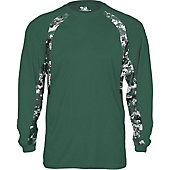 Badger Men's Digital Hook Long Sleeve Shirt