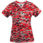 Badger Women's Digital V-Neck Shirt
