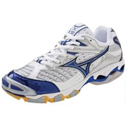 Mizuno Women's Wave Lightning 6 White/Navy Volleyball Shoes