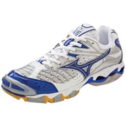 Mizuno Women's Wave Lightning 6 White/Royal Volleyball Shoes