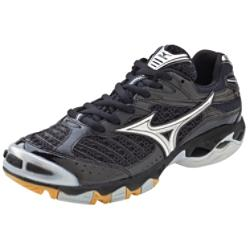 Mizuno Women's Wave Lightning 6 Black/Silver Volleyball Shoes