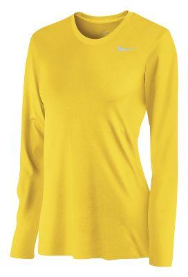 Nike Women's Dri-Fit Legend Long Sleeve T-Shirt plus size,  plus size fashion plus size appare