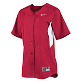 NIKE WMNS STOCK FULL BUTTON SS JERSEY 12H