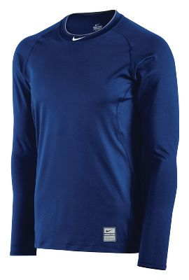 Nike Men's Pro Combat Fitted Long Sleeve Shirt 456174RW3XL