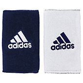 "Adidas Interval 5"" Wide Reversible Wristbands"