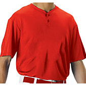 Alleson Youth Mesh Two Button Baseball Jersey