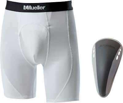 Mueller Adult Athletic Support Short w/ FlexShield Cup 5639ASS
