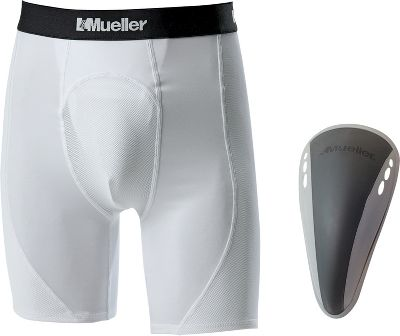 Mueller Youth Athletic Support Shorts with Flex Field Cup 563YSLRG