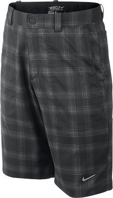 Nike Boy's Dri-FIT Plaid Tech Golf Shorts