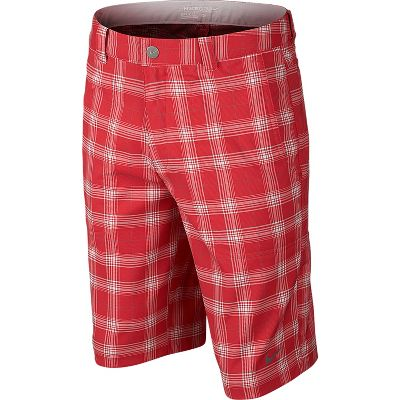 Nike Boy's Dri-FIT Plaid Tech Golf Shorts