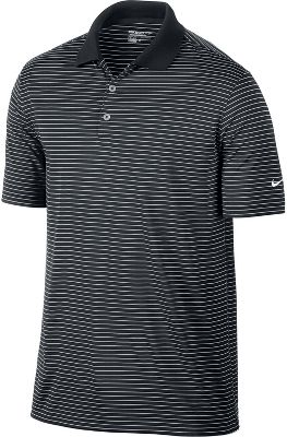 Nike Victory Stripe Golf Polo - Mens - Black