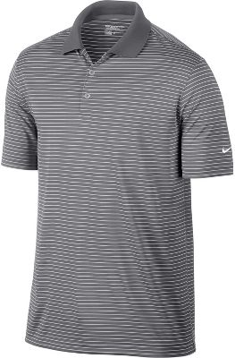 Nike Victory Stripe Golf Polo - Mens - Pewter Grey