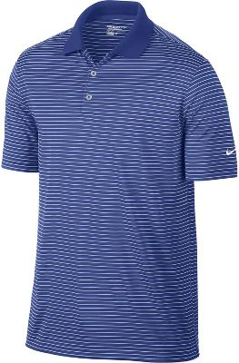 Nike Victory Stripe Golf Polo - Mens - Game Royal
