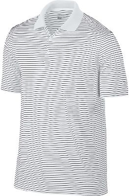 Nike Golf Dri-Fit Victory Stripe Polo - White/Black XXL