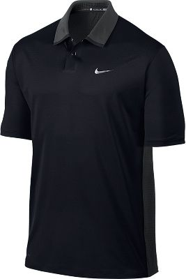 Nike Men's Tiger Woods Perforated Panel Golf Polo