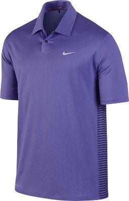 Nike Men's Tiger Woods Engineered Stripe Golf Polo