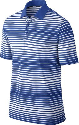 Nike Men's Key Bold Heather Stripe Golf Polo
