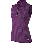 Nike Women's Tech Sleeveless Stripe Golf Polo