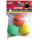 Rawlings Foam Hit/Curve Training Balls (3 Pack)