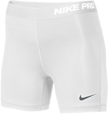 "Nike Women's Pro 5"""""""" Compression Shorts"" 615727WHTM"