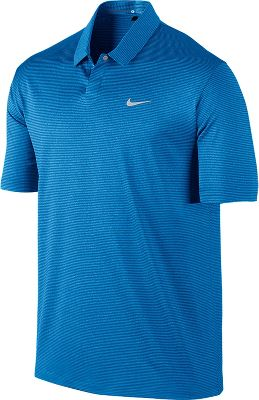 Nike Men's Tiger Woods Modern Stripe Golf Polo