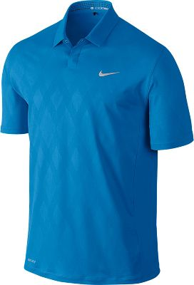 Nike Men's Tiger Woods Seasonal Embossed Golf Polo