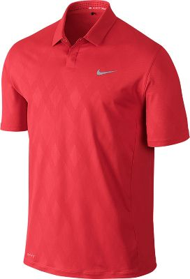 Nike Men's Tiger Woods Seasonal Embossed Golf Polo