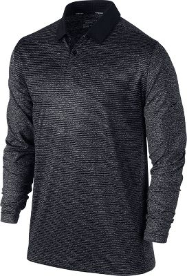 Nike Men's Premium Long Sleeve Speed Print Golf Polo