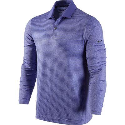 Nike Men's Premium Long Sleeve Speed Print Golf Polo